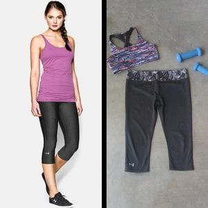 Under Armour Fitted Heat Gear Cropped Leggings lg